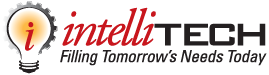 Intellitech Inc. Innovators of Single-Use Liquid Filling Logo